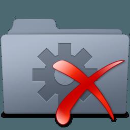 Иконка папка удалить система