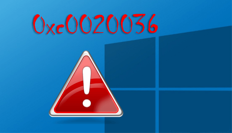Ошибка 0xc0020036 в Windows 10