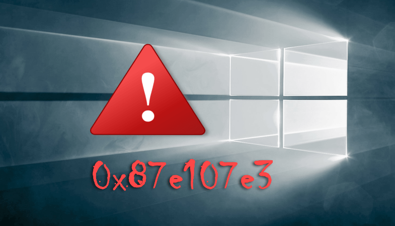 0x87e107e3 в Windows 10