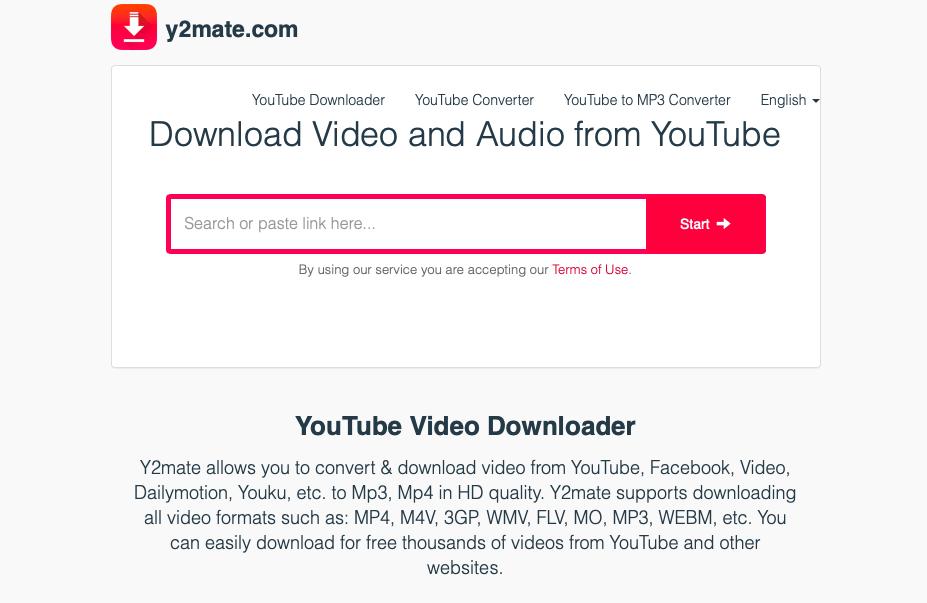 y2mate для загрузки видео с ютуба