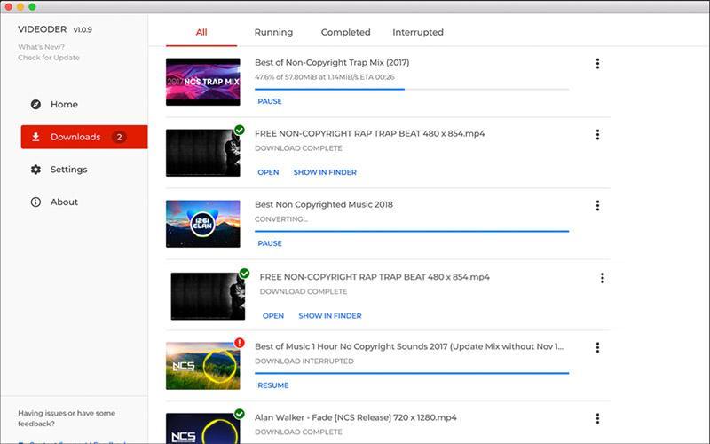 Videoder для загрузки роликов из ютуб