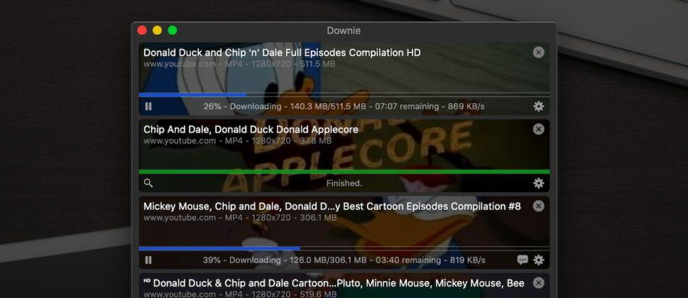скачать видео из  ютуба на макОС Downie