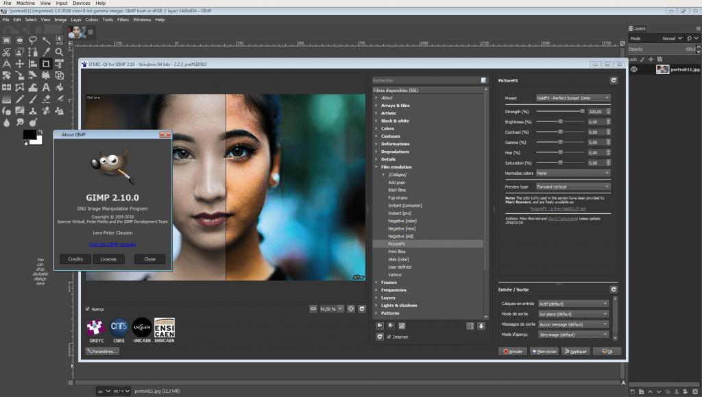 GIMP многозадачный редактор для ПК