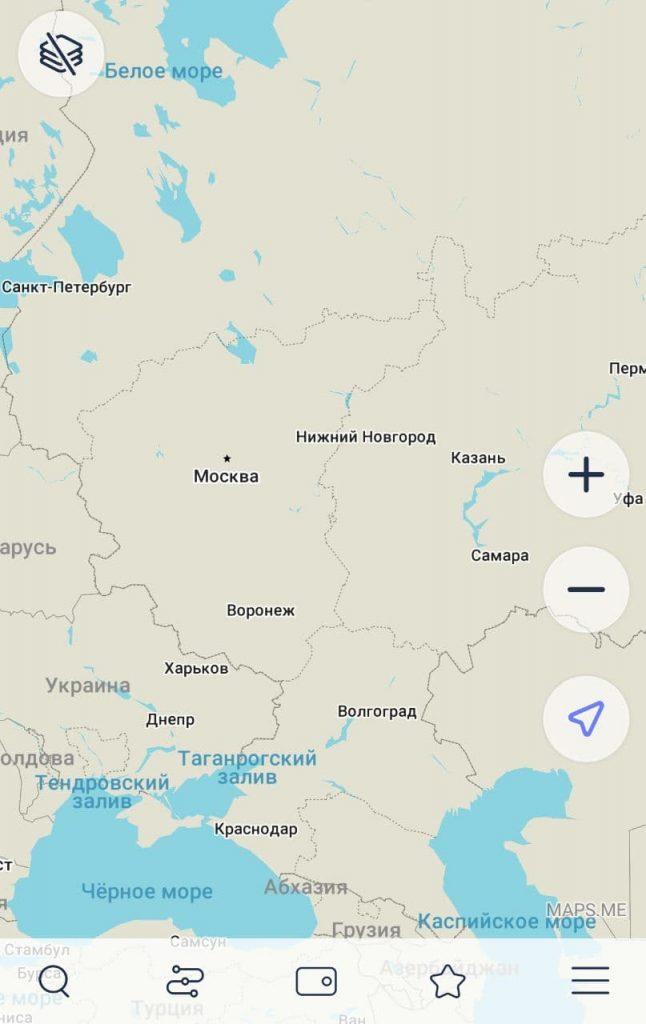 MAPS.ME навигатор для андроида