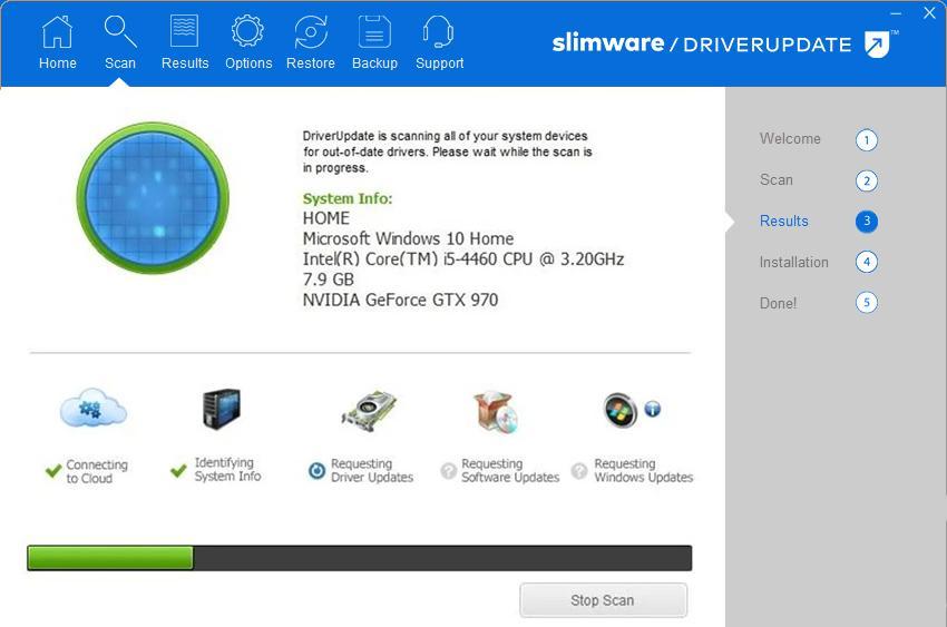 установка драйверов через SlimDrivers