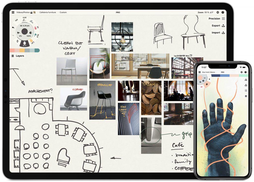 с помощью какой программы создавать скетчи на планшете Concepts