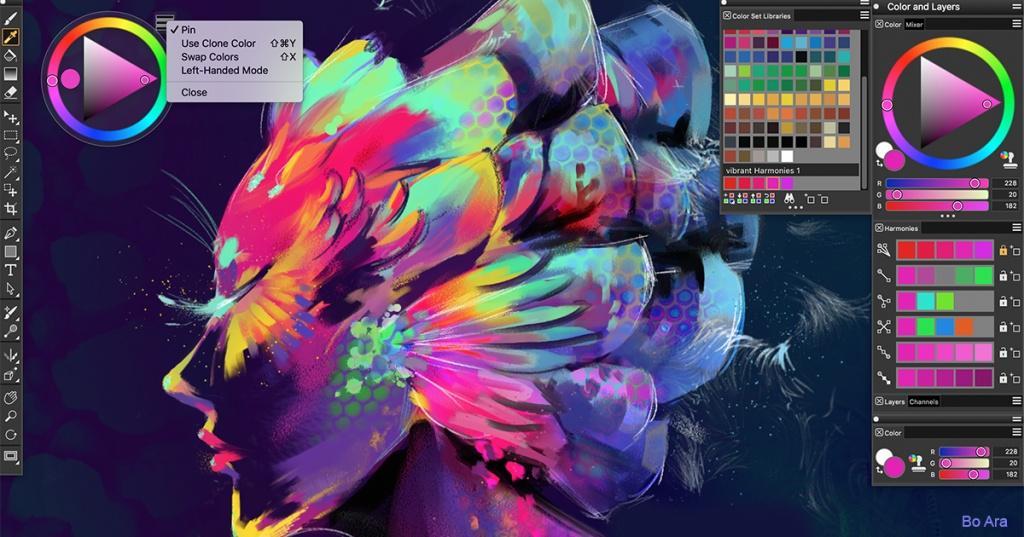 как рисовать на пк в программе Corel Painter