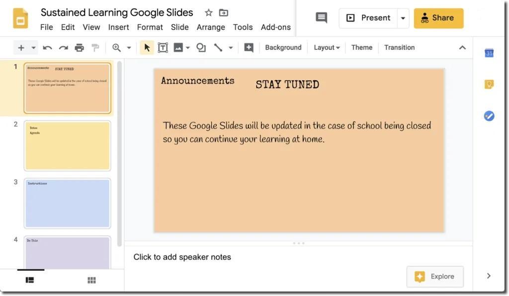 программа для создания презентаций Google Slides