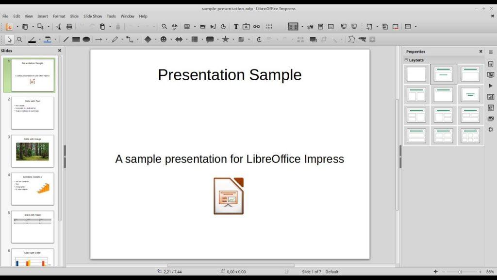 бесплатная программа для создания презентаций LibreOffice Impress