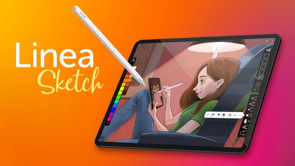 рисуем на планшете с помощью Linea Sketch