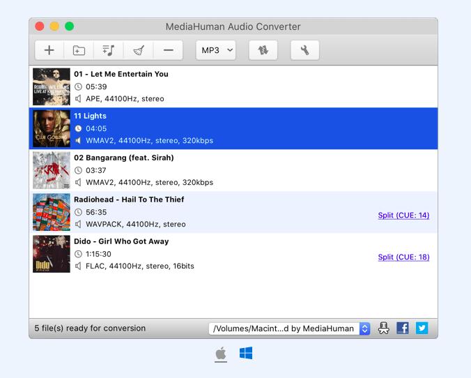 лучший бесплатный конвертер MediaHuman Audio Converter