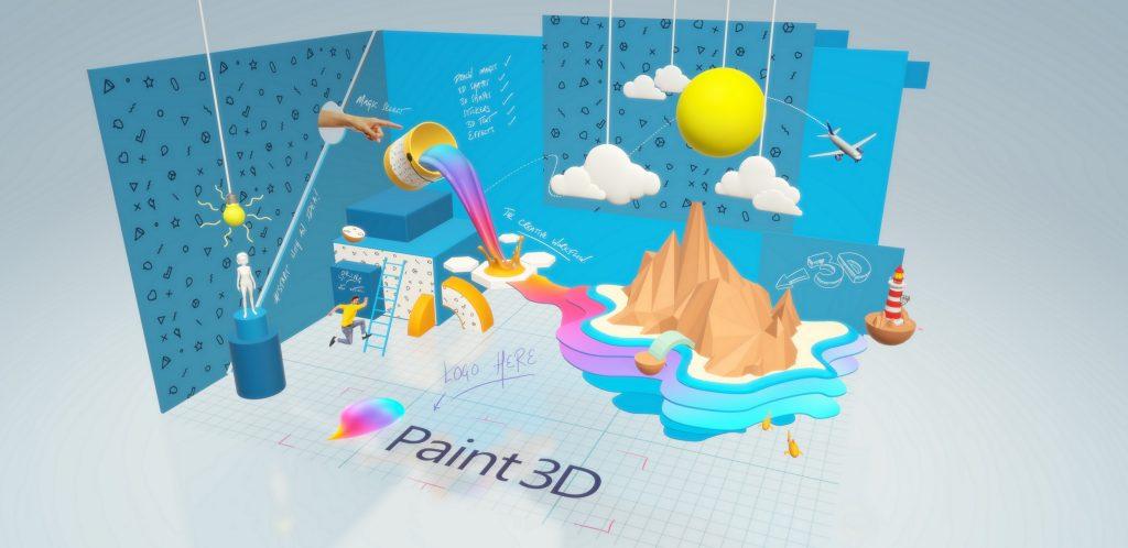 популярная программа для творчества Paint 3D
