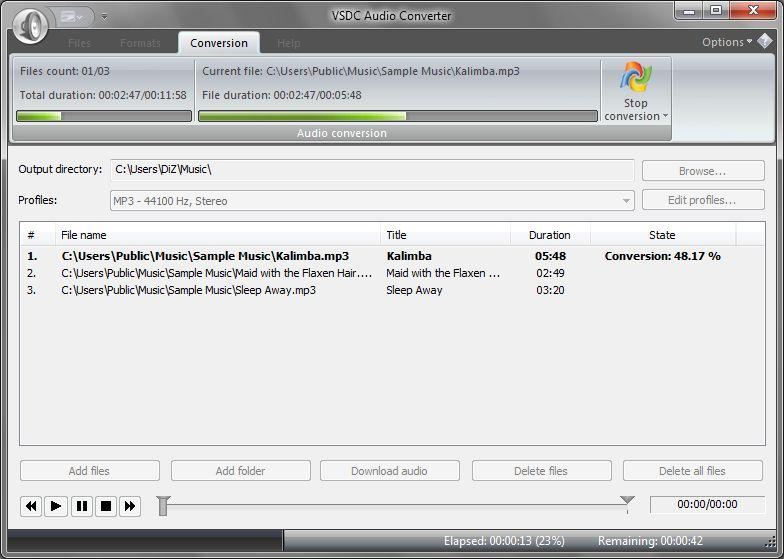 бесплатный конвертер аудио VSDC Free Audio Converter