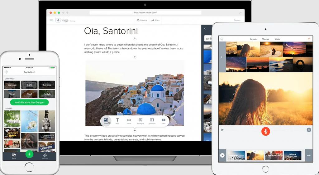 какое приложение лучше для создания фотоколлажей - Adobe Spark