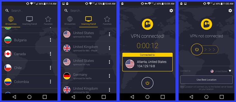 впн для Android подборка CyberGhost