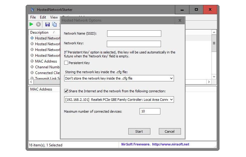 через какую программу можно раздать WiFI HostedNetworkStarter