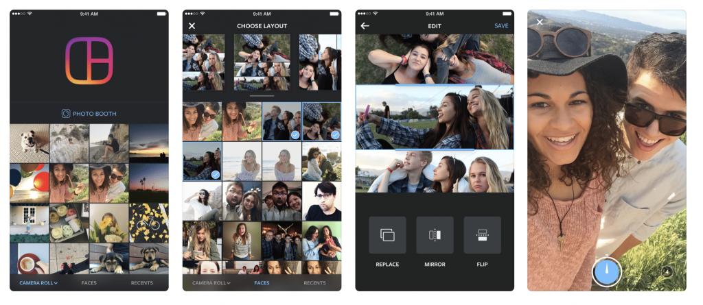 создать коллаж для инстаграм на смартфоне Instagram Layout