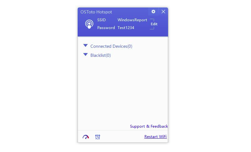простая программа для раздачи Wi-Fi с ноутбука OSTotoHotspot