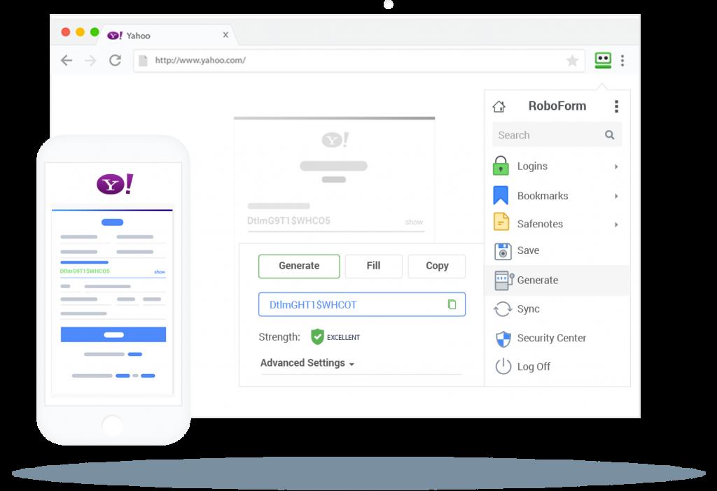 бесплатный менеджер паролей для компьютера RoboForm