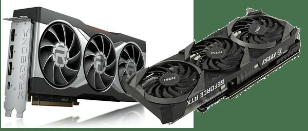 видеокарты топового сегмента RTX 3070 и RX 6800 XT
