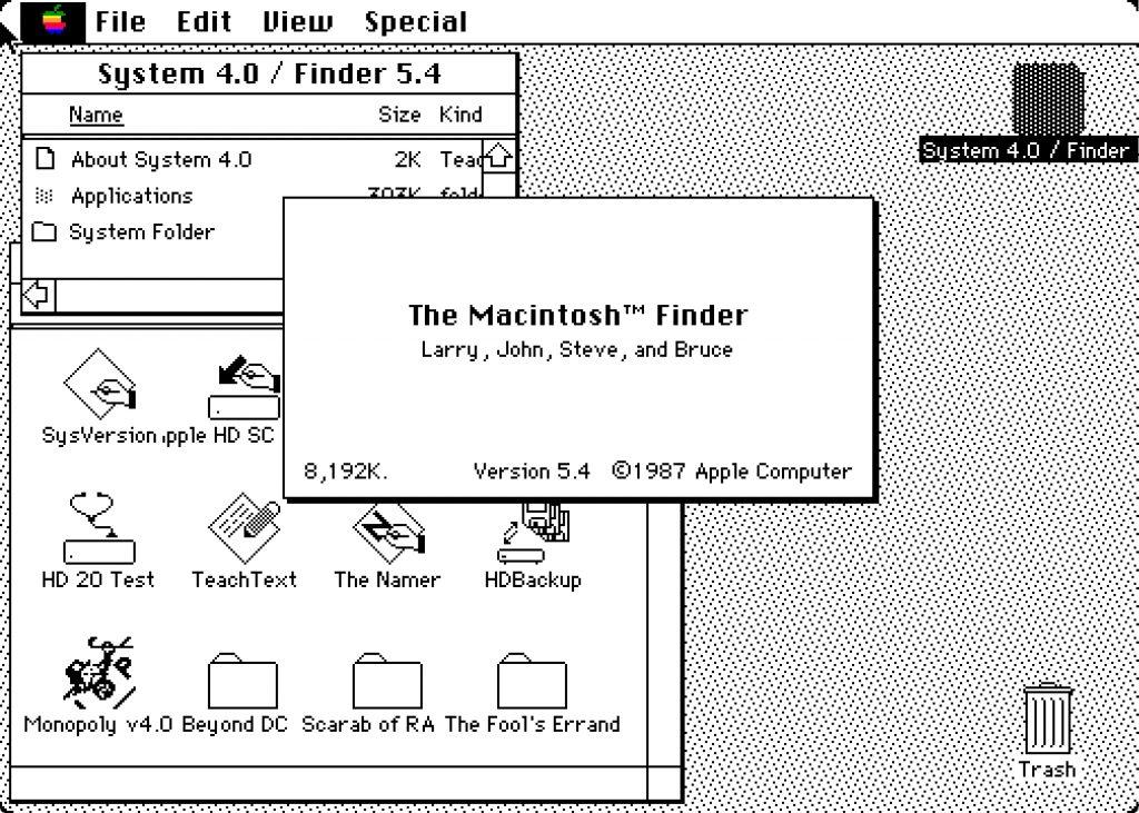 первые версии операционной системы macos