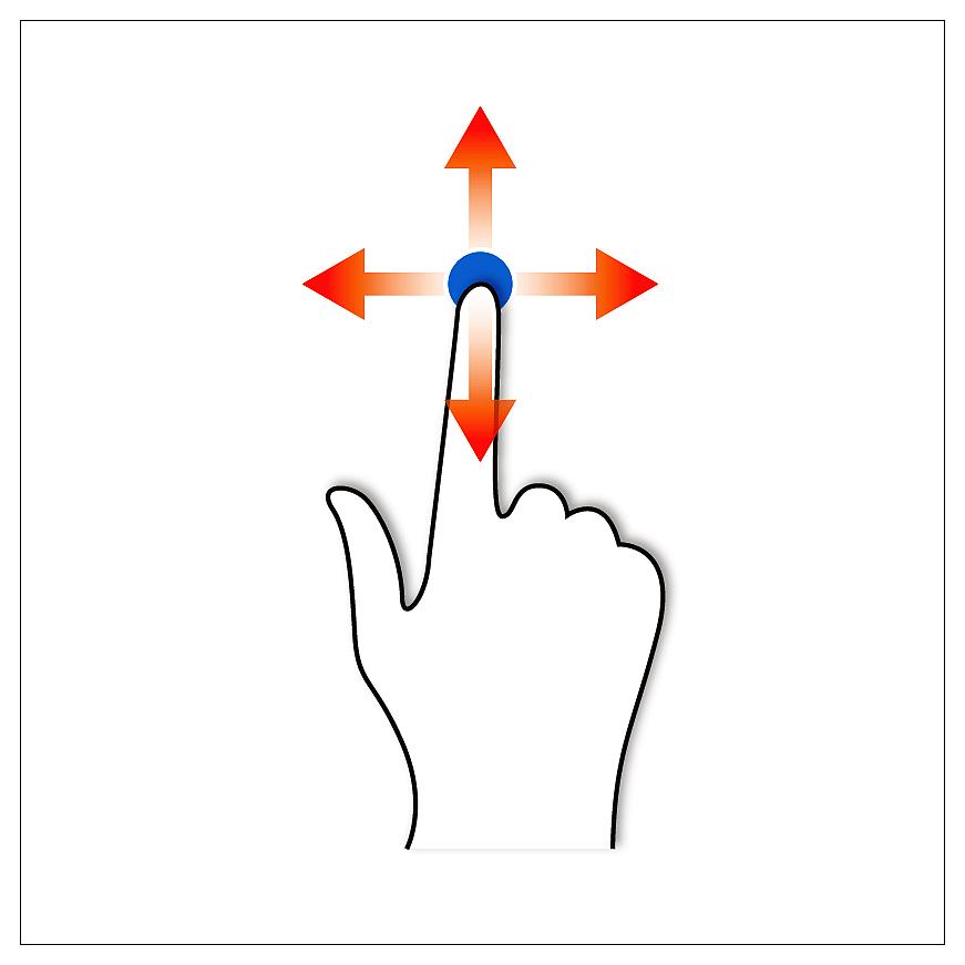 движения по сенсорной панели тачпада ноутбука