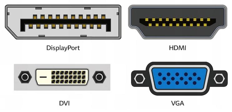 варианты подключения  монитора