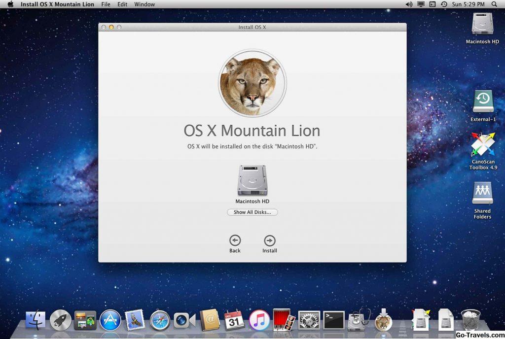 внешний вид системы Mac OS X Lion