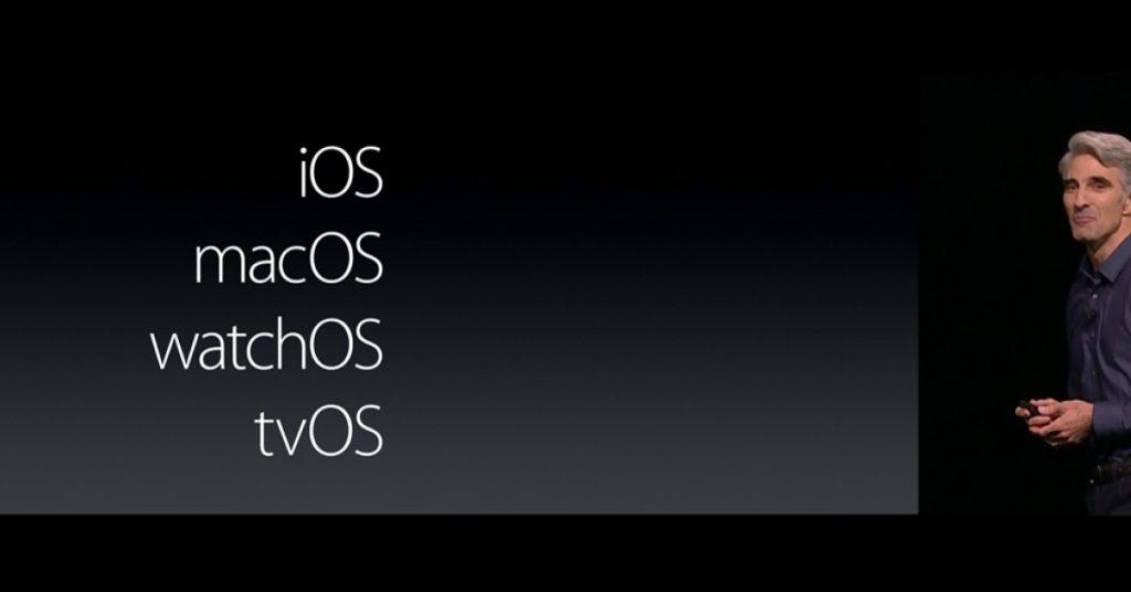 название macOS системы