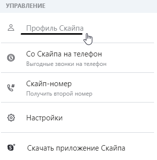 настройки профиля скайпа