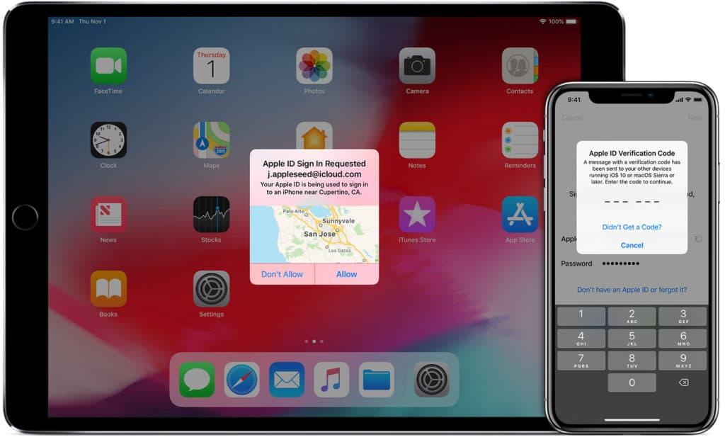 Восстановление Apple ID, если была настроена двухфакторная аутентификация