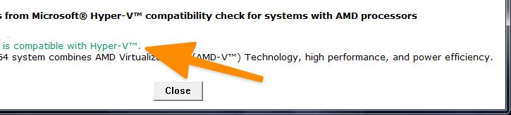 запускаем программу AMD-V System Compatibility Check
