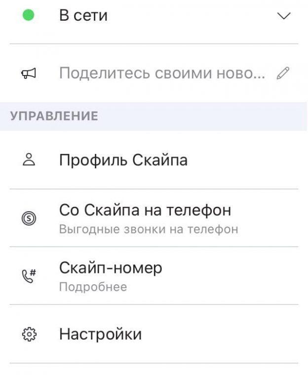 открываем профиль в скайпе на телефоне