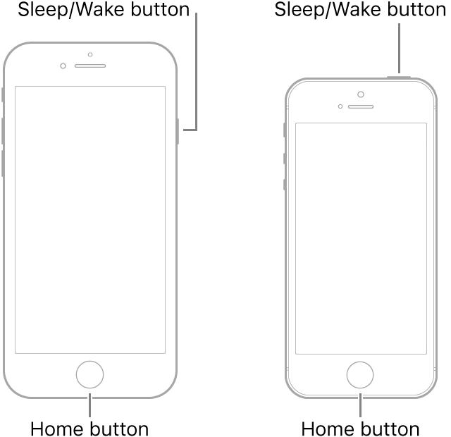 перезагрузка iPhone 7
