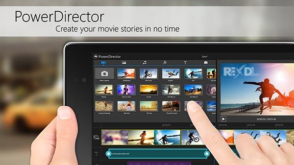 популярный видеоредактор для Андроида PowerDirector