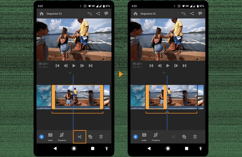 программа для обработки видео на андроид Adobe Premier Rush