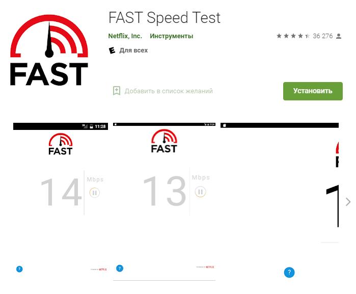 FAST Speed Test для проверки скорости интернета