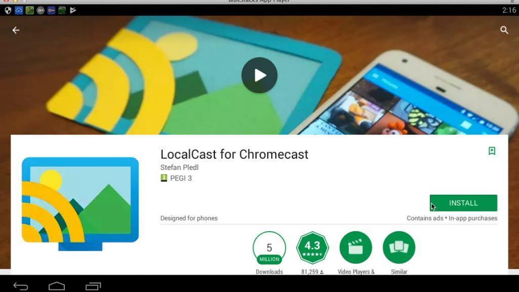 приложение LocalCast