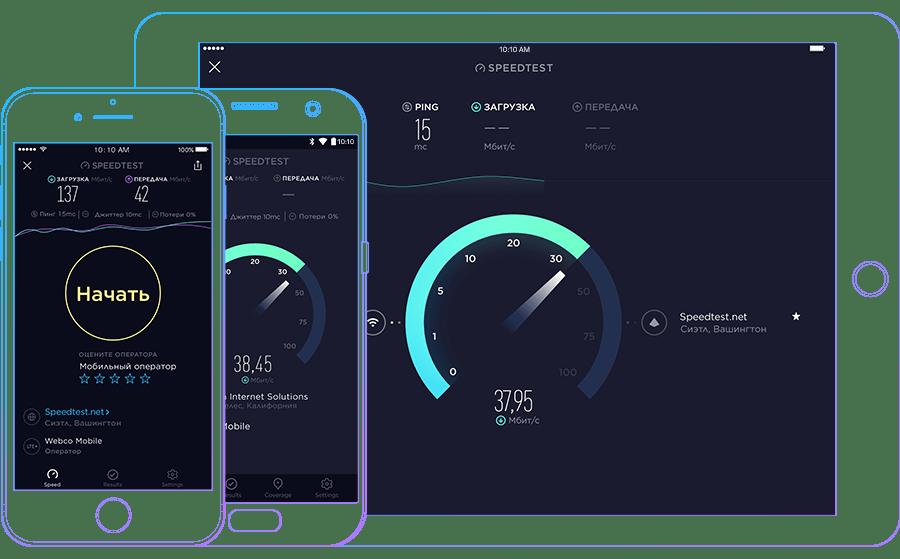 speedtest для проверки скорости интернета